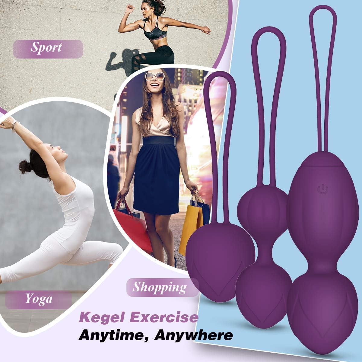 Kegel Balls for Tightening, Ben Wa Balls for Women Pelvic Floor Strengthening Device and Bladder Control Exerciser (Purple, 3 Balls): Health & Personal Care