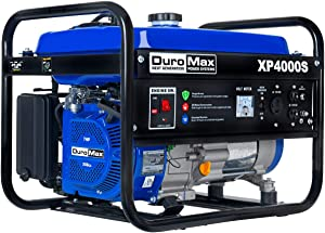 DuroMax XP4000S Gas Powered Portable Generator- 4000 Watt-Recoil Start-Camping & RV Ready, 50 State Approved