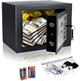Anfan Electronic Safe Box Steel Construction Hidden Digital Home Security Box with Keys for Cash Jewelry Passport Gun Storage