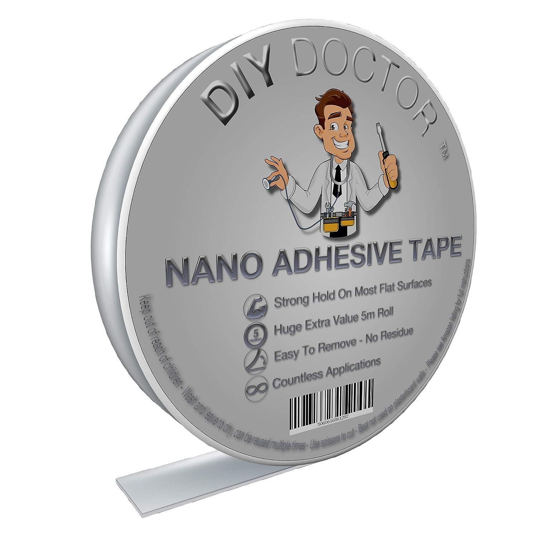 Trasparente Non Lascia TR DIY Doctor Multifunzione Biadesivo Extra Forte in Gel Riutilizzabile-Nastro Adesivo Rimovibile e Lavabile