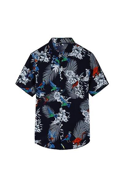 save off 2f13f d7060 YACUN Uomini Sono Camicie Hawaiane Black Pappagallo Lascia ...