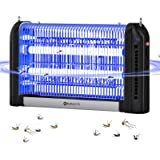 YUNLIGHTS Bug Zapper Outdoor Electric: 20W High Power Mosquito Killer 2800V Fly Trap Hanging UV Light Mosquito Zapper for Ind