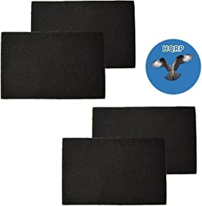 HQRP 4pcs Carbon Pre-Filter fits Bionaire A1230H, 9000492 ; GE 106743, 106753, 106773 HEPA Filters Plus Coaster