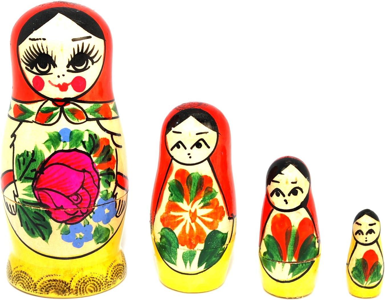 Russian Semenov Nesting dolls Matryoshka Hand painted in Russia Gift 5pcs// set