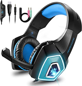 Cocoda Cascos Gaming para PS4 Nintendo Switch Xbox One, Ligero ...