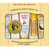 Burt's Bees Essential Gift Set, 5 Travel Size Products - Deep Cleansing Cream, Hand Salve, Body Lotion, Foot Cream and Lip Ba