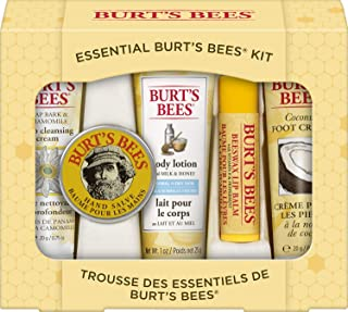 product image for Burt's Bees Essential Gift Set, 5 Travel Size Products - Deep Cleansing Cream, Hand Salve, Body Lotion, Foot Cream and Lip Balm