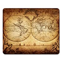 Onete Mouse Pads Old Vintage Map of The World 1733 Ancient Mouse Pad 9.5