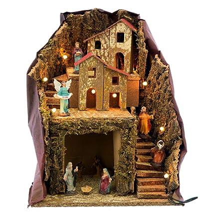 1c08eda2696 Belén con Portal rústico marrón de Madera para decoración navideña Christmas  - LOLAhome