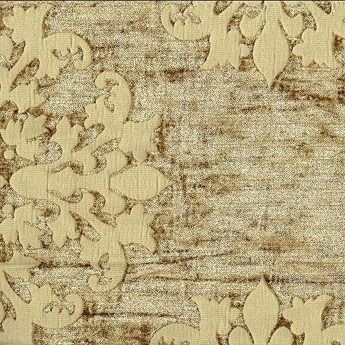 Reversible Duvet Cover Monterey Court Linen Gold Medallion Chenille