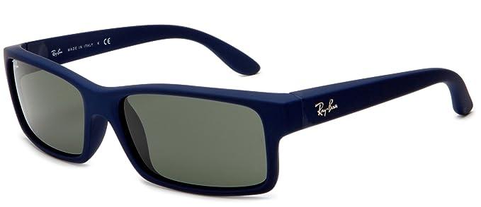 509ef43e4e Ray-Ban RB4151 - BLUE DOWNPOUR RUBBERIZE Frame CRYSTAL GREEN Lenses 59mm  Non-Polarized