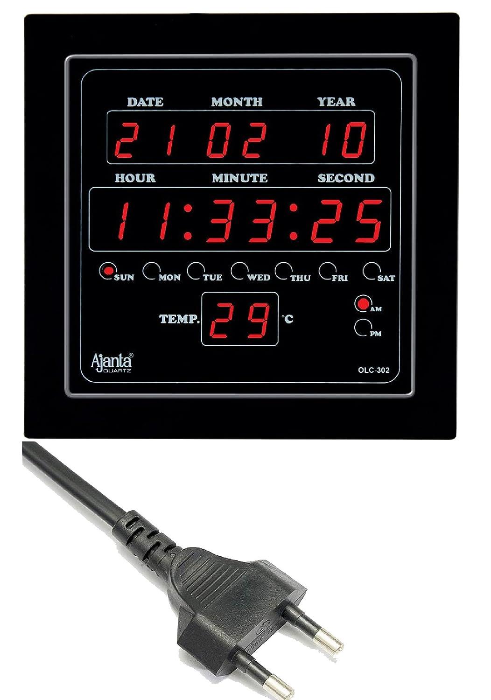 Buy Ajanta Quartz Plastic Digital Clock 282 Cm X 264 42 Led Circuit Diagram Image Black Online At Low Prices In India