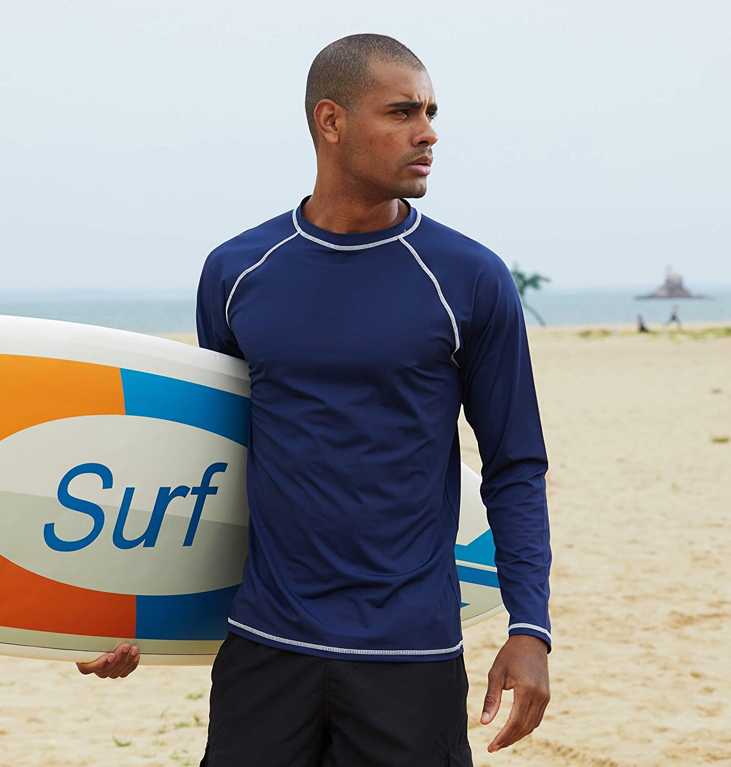 Shirts Diving Wetsuits Swimsuit MILANKERR Mens Rash Guards Long Sleeves Quick Dry Swimming Rash Surfing UV Sun Protection 50