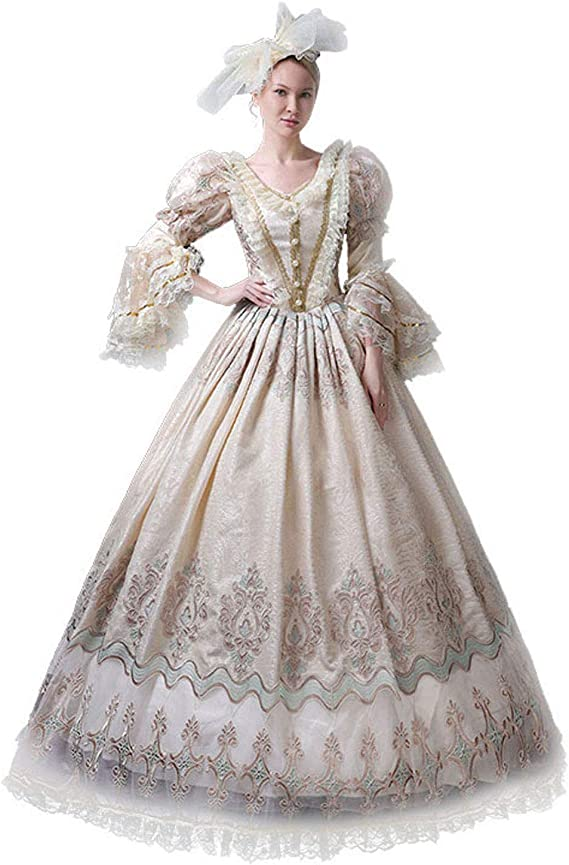 Renaissance Game of Thrones Queen Ball Gown Fancy Dress Steampunk Clothing 119