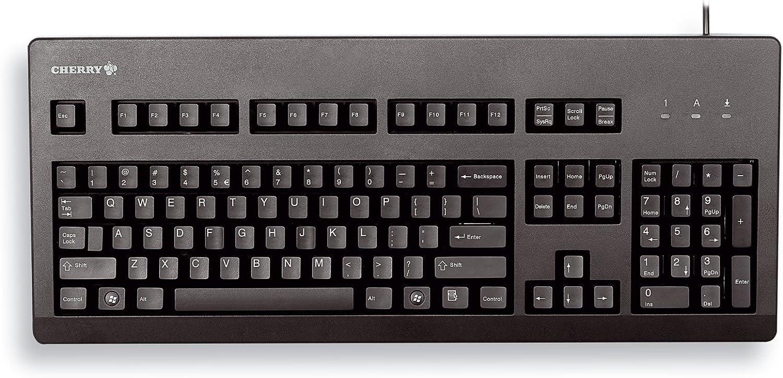Cherry Standard PC keyboard G80-3000 PS-2, PS/2, Español QWERTY, 1.75 m, 1400 g, 470 x 195 x 44 mm, 0 - 50 °C