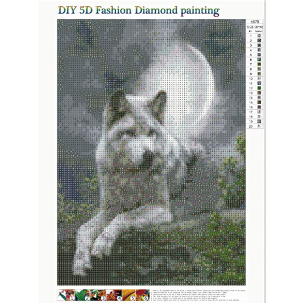 Adulte Broderie de diamants Point de Croix en R/ésine D/écoration de Maison Salon Diamond Painting Kits Complets voiture 30X40cm Peinture en Diamant 5D DIY