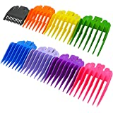 "8 Sets 8 Color Guide Combs for Most Hair Clippers/Trimmers–8 Cutting Lengths from 1/8""to 1""(3-25mm)–Great for Professional Stylists and Barbers Ovtel"