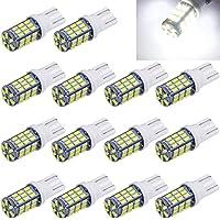 Aucan Super Bright RV Trailer 921 194 168 2825 W5W T10 Wedge 42-SMD 3014 Chipsets 12V Car Backup Reverse LED Light Bulbs…