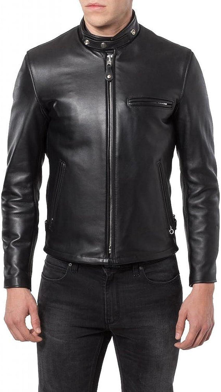 Black, Racer Jacket 1501291 Laverapelle Mens Genuine Cowhide Leather Jacket