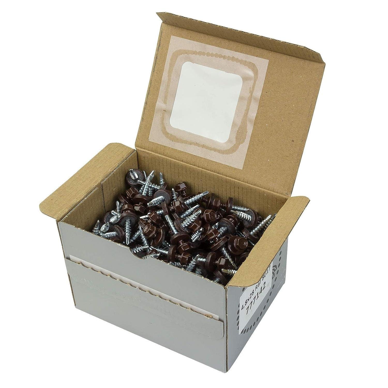 RAL 8017 Trapezblechschrauben 4,8x35