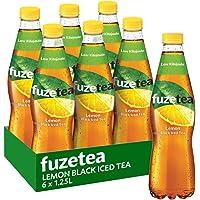 Fuze Lemon Black Iced Tea Bottle, 6 x 1.25 l
