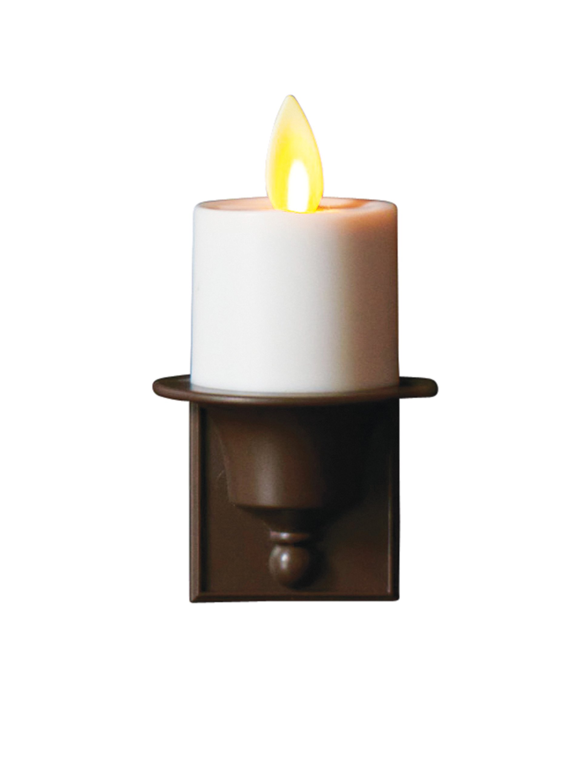 Mystique Flameless Candle, Ivory Nightlight, Plastic Candle With Realistic Flickering Wick, By Boston Warehouse