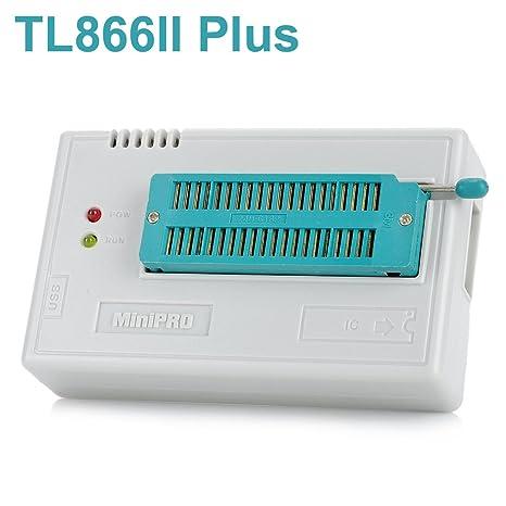 WINGONEER Programador BIOS EEPROM FLASH de alto rendimiento USB TL866II Plus para ATMEL AVR ATMEGA AT90