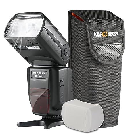 K&F Concept KF-882 Speedlite Flash para Cámara DSLR Canon Compatible con E-TTL
