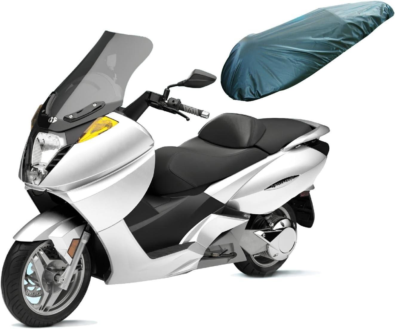 A de Pro Universal Motorcycle Motorbike Nylon Heavy Duty Waterproof Seat Covers Black L