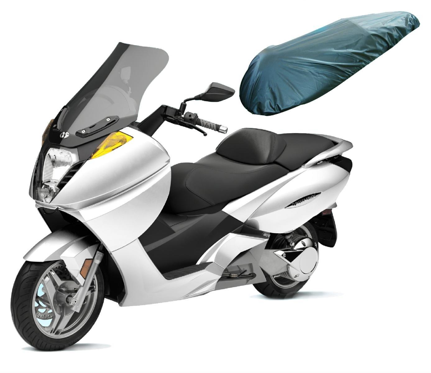 A-pro Universal Motorcycle Motorbike Nylon Heavy Duty Waterproof Seat Covers Black L