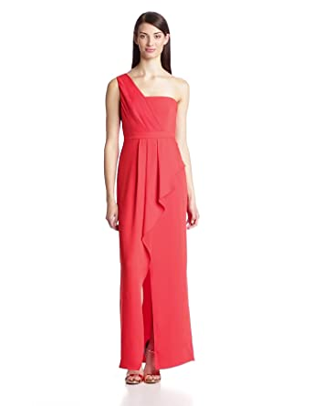 6b83135bbcd BCBGMAXAZRIA Women's Kristine One Shoulder Evening Gown, Bright Red, ...
