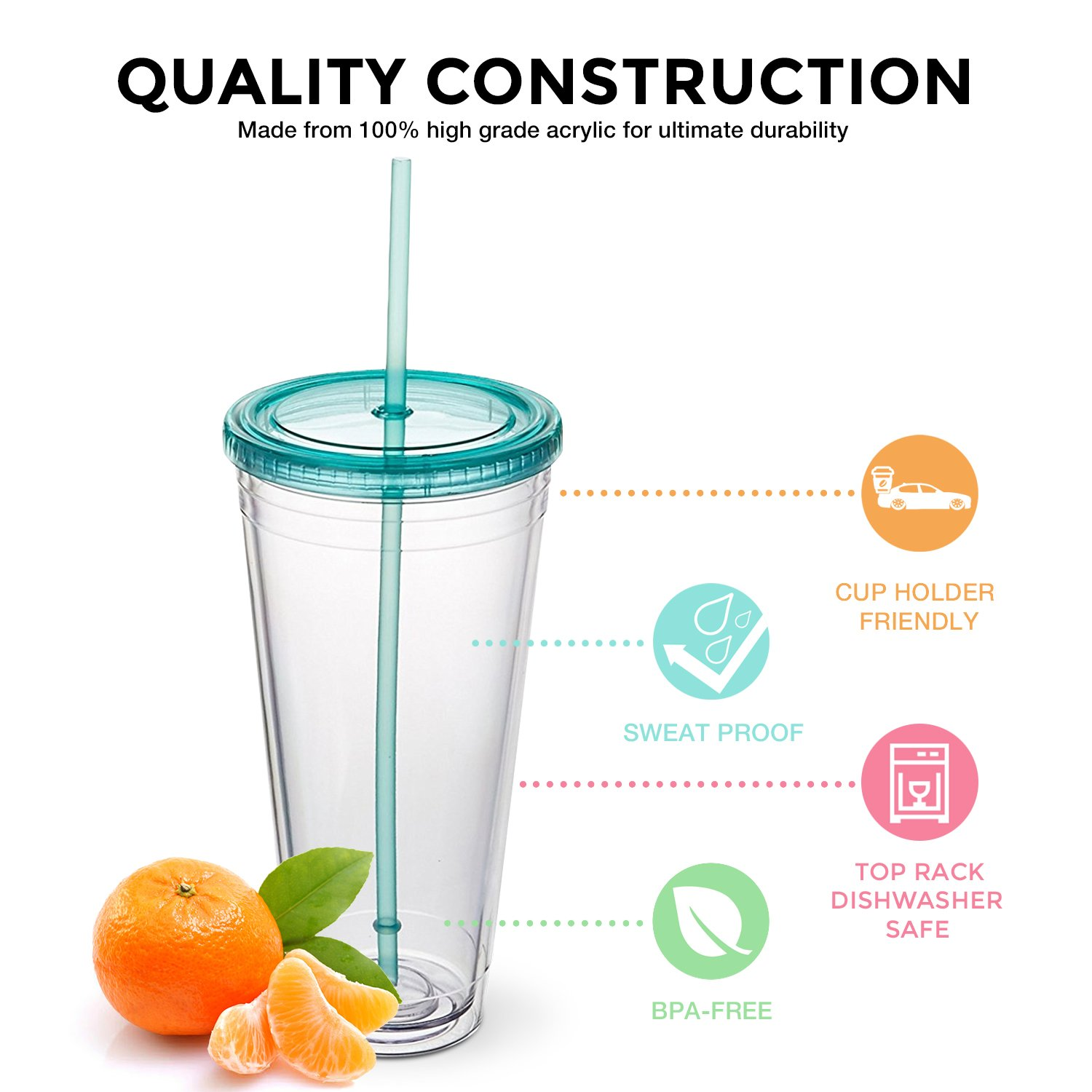 Maars Insulated Travel Tumblers 32 oz. | Double Wall Acrylic | 3 Pack by Maars® Drinkware (Image #3)