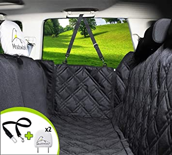 REAR SEAT COVER BACK PROTECTOR WATERPROOF 2 X CLIP MITSUBISHI ASX 10