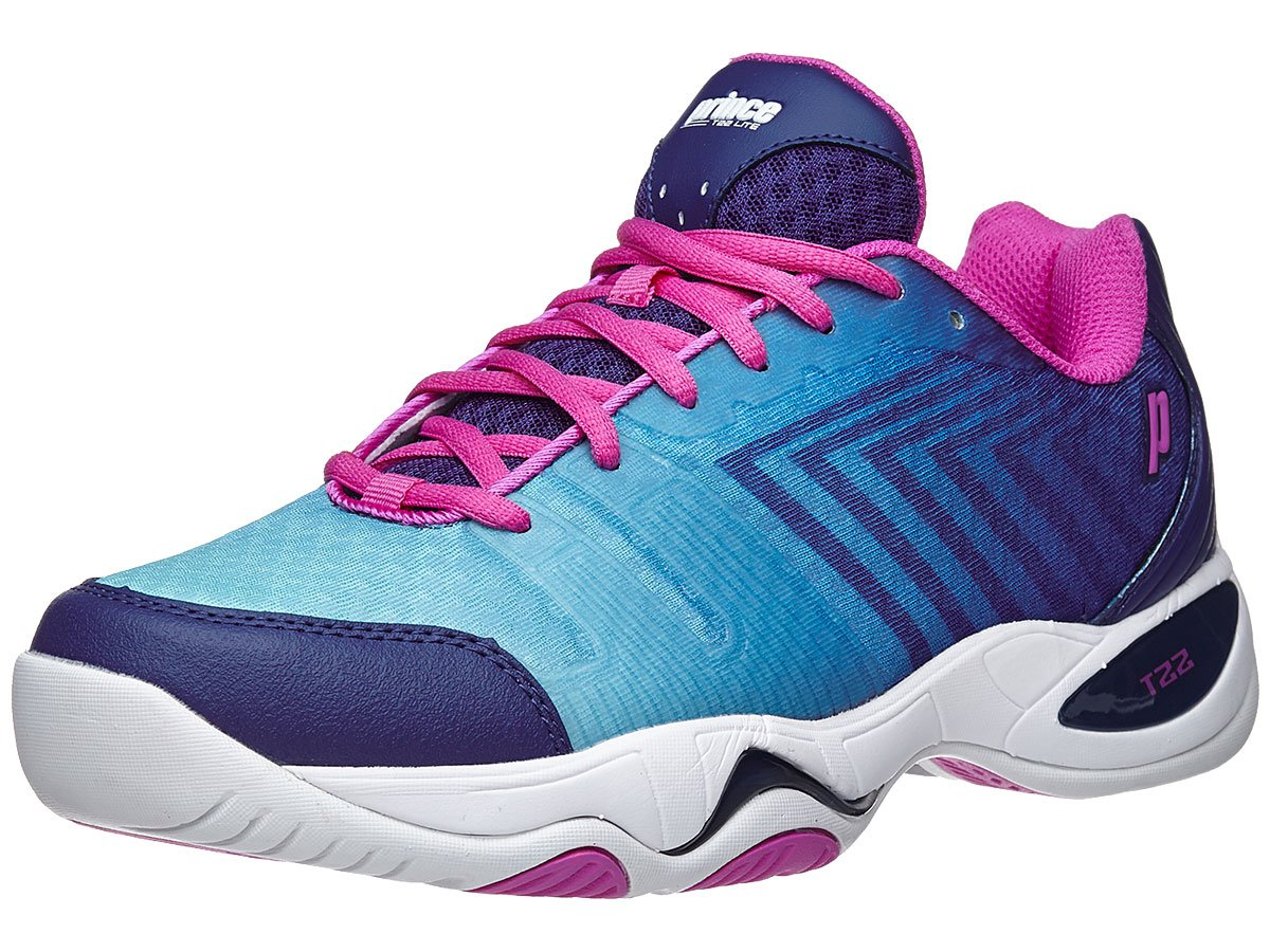 Prince T22 Lite Oc/Wh/Pk Women's Shoes 10.0