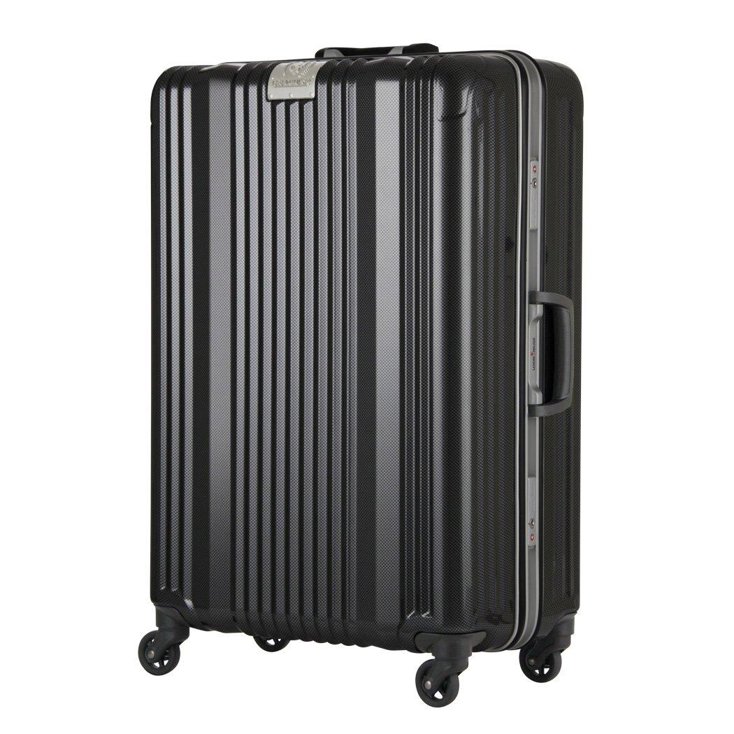 [アウトレット]スーツケース キャリーバッグ キャリーケース LEGEND WALKER レジェンドウォーカー 超軽量 大型 L サイズ 『B-6026-70』 カーボン B07PPD15DX