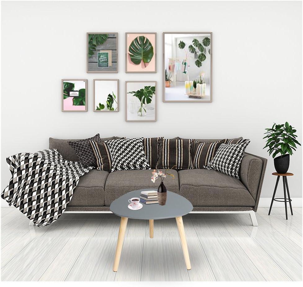 Happy Home Products Tavolino da caff/è Moderno Set di 2 Tavolino da Salotto per Il Soggiorno Ufficio a casa Tavolo Grande-85x50x45cm// Piccolo tavolino-70x35x40cm