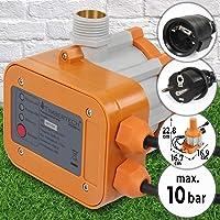 Controlador de Presión Automático - 1,1kW, Presión Máx. 10bar, Protección IP65 - Interruptor de Control Electrónico de Bomba de Agua, Presostato, Presscontrol