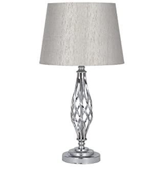 Silver metal table lamp complete amazon electronics silver metal table lamp complete mozeypictures Gallery