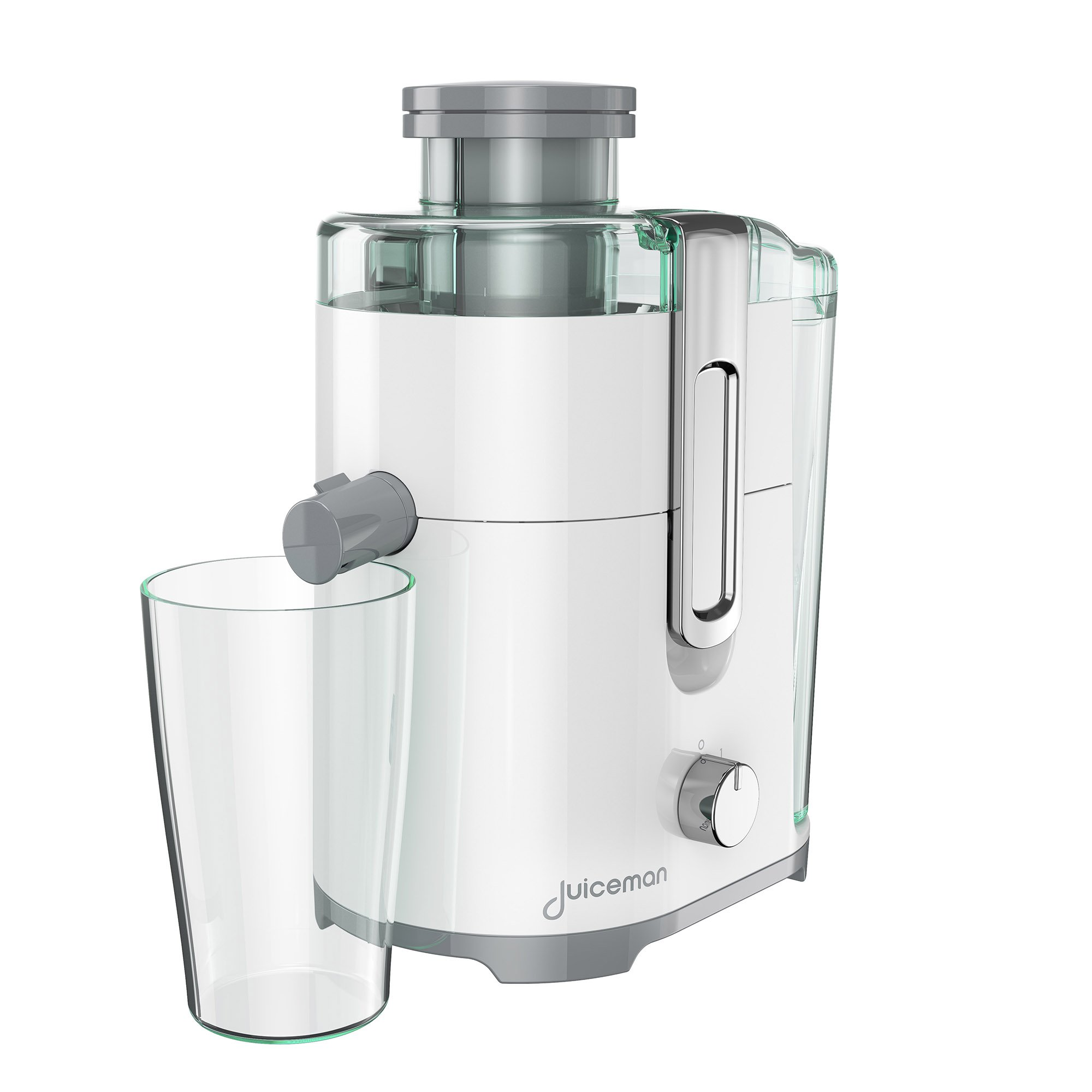 Juiceman JM250 Compact 2 Speed Juicer with 48oz Removable Pulp Container & Bonus 16oz. Juicing Cup