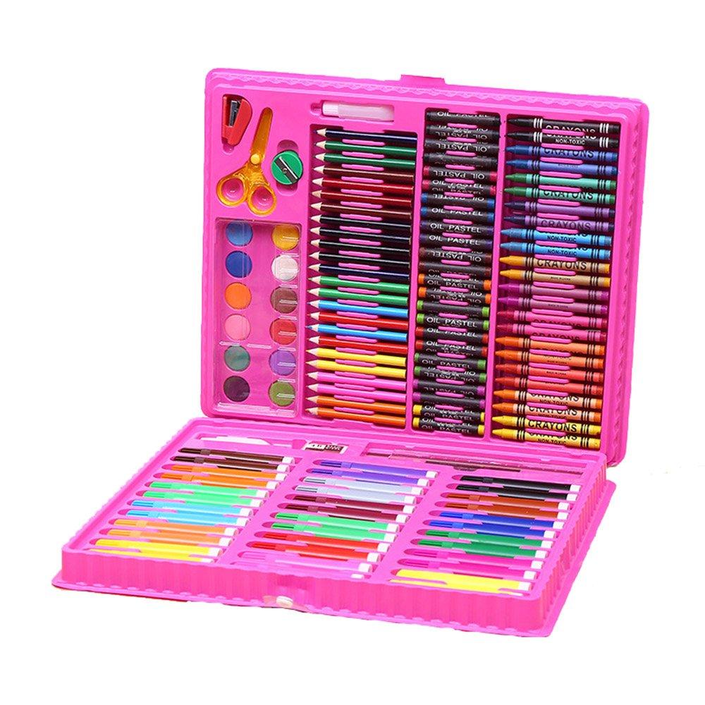 Pluma de Acuarela 151 para niños Set Dibujo Pluma Estudiante 151 Acuarela Color Pluma Chica de Kindergarten Pintura Segura no tóxico (Color : Rosado) 1744e0