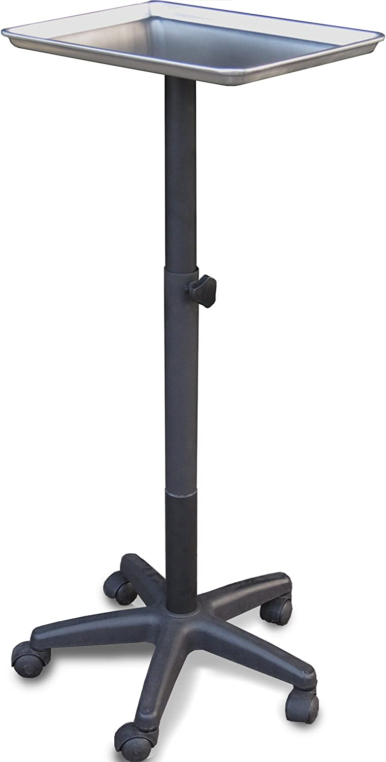 2300-M Utility Tray Tray Stand Adjustable Trolley Medical Physician Made in USA Dina Meri