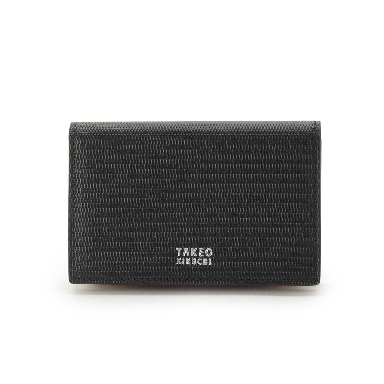 (タケオキクチ) TAKEO KIKUCHI ミニメッシュ名刺カードケース 07001522 B071FPHXWD ブラック(519) ブラック(519)