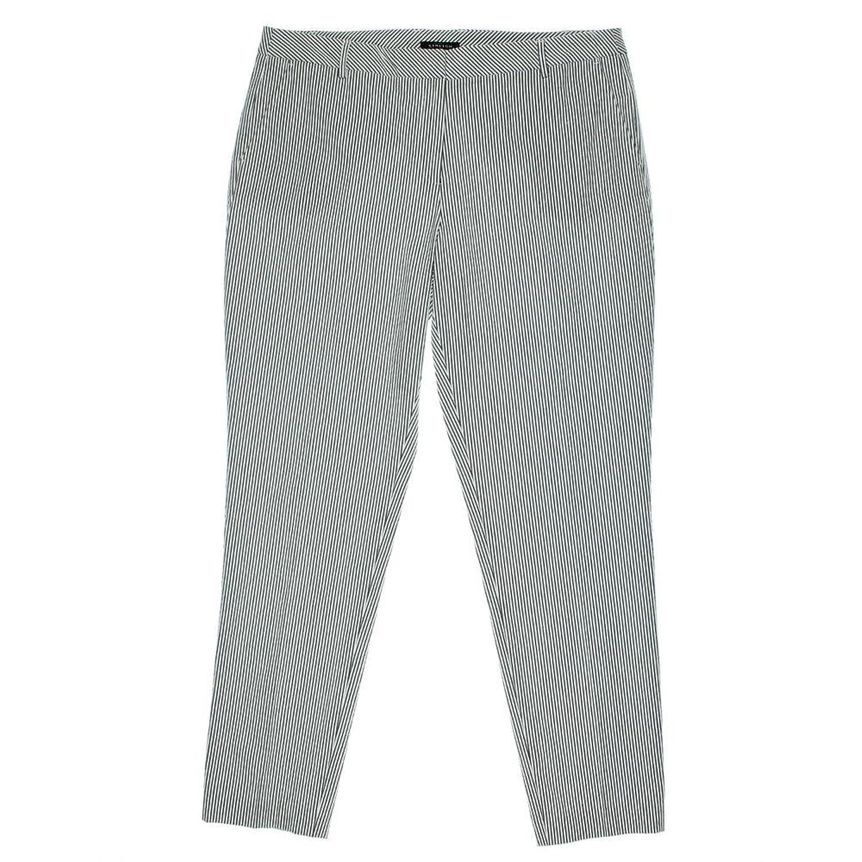 Jones New York Womens Grace Seersucker Pinstripe Trouser Pants B/W 14