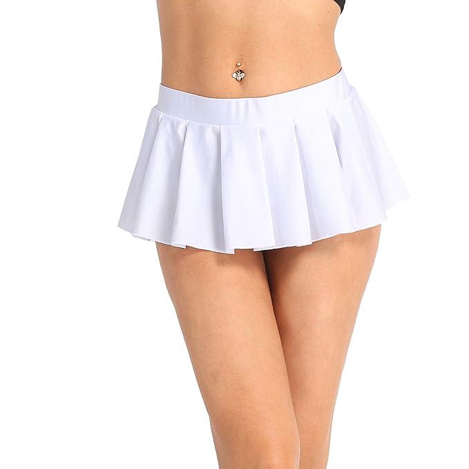 Freebily Falda Corta Plisada para Mujer Mini Falda Uniforme ...