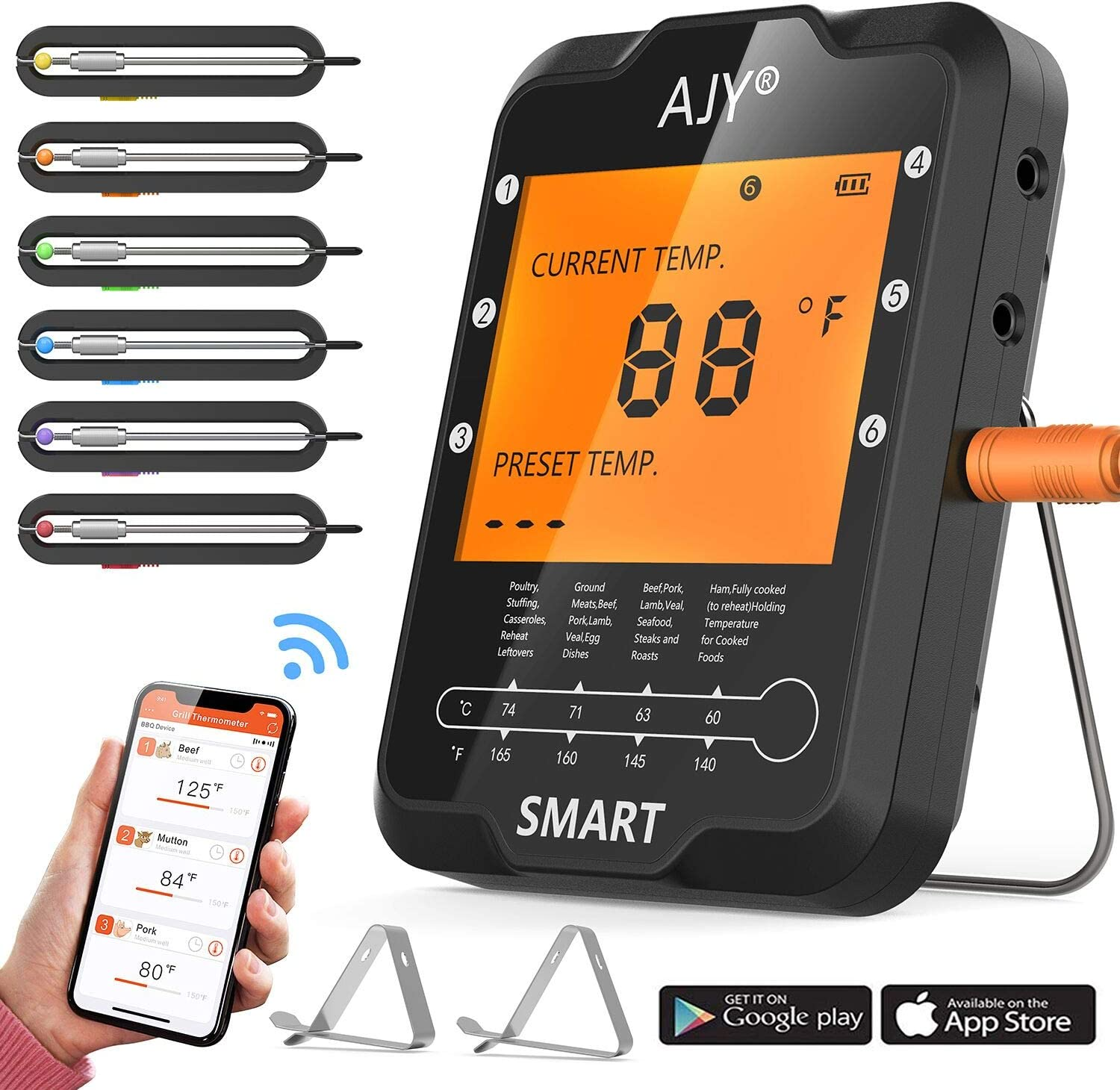 Best digital cooking thermometer: AJY SMART thermometer