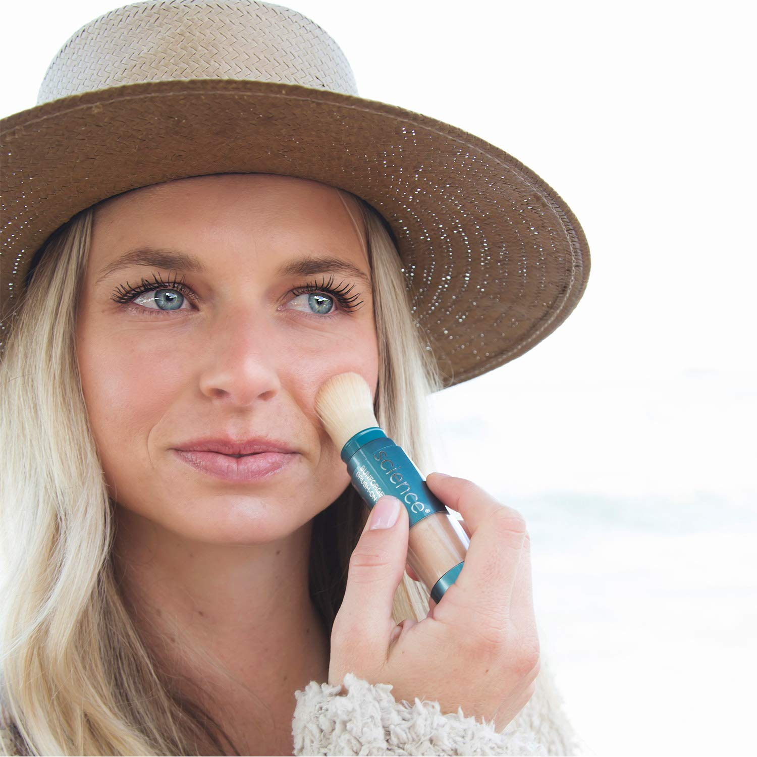 Colorescience Brush-On Sunscreen, Sunforgettable Mineral Powder for Sensitive Skin, Broad Spectrum SPF 50 UVA/UVB Protection