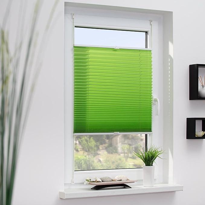 45 x 130 cm tendu Ivoire Tissu Polyester Wohn-Guide Store pliss/é avec syst/ème de Fixation sans per/çage