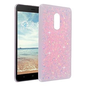 Funda para Xiaomi Redmi Note 4, Asnlove 3D Bling Brillante Glitter Carcasa Silicona Gel TPU Flexible Cover Case Transparente Protectora Cubierta para ...