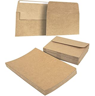 100 pack kraft invitation office stationery postal envelopes a7