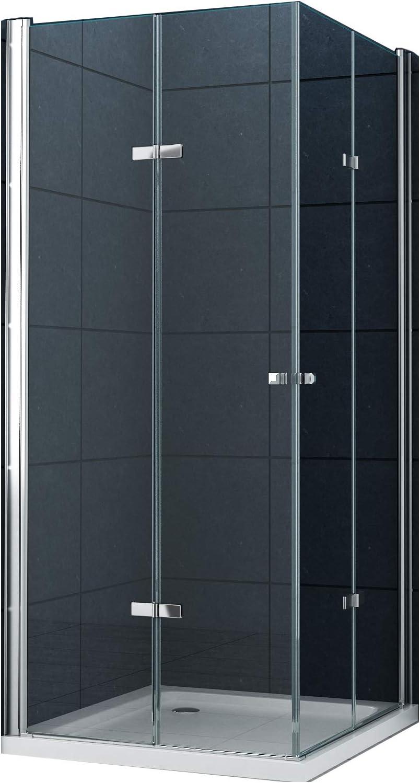 La entrada en curva Cabina de ducha Ducha Vigo 80 x 80 x 180 cm / 8 mm / sin un plato de ducha: Amazon.es: Bricolaje y herramientas